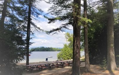 Photo for 3 BR cottage on Lake Winnipesaukee with beach and use of small boats