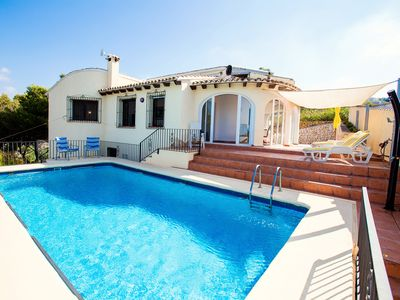 Photo for Villa Cezanne in Moraira with fab seaviews, private pool, WiFi, max. 6 people