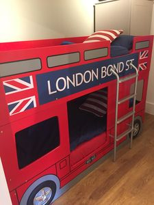 The kids LOVE the London Bus bunk beds.