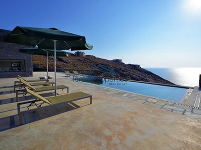 Photo for Modern stone villa with a swimming pool, large terrace and  fantastic sea view.