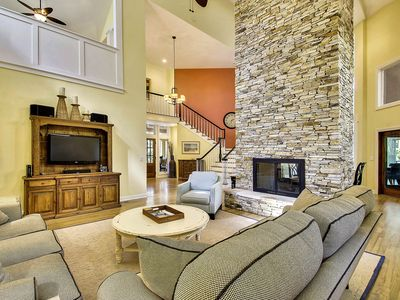 Photo for NEW LISTING! Expansive golf course getaway w/course views, plenty of room & more