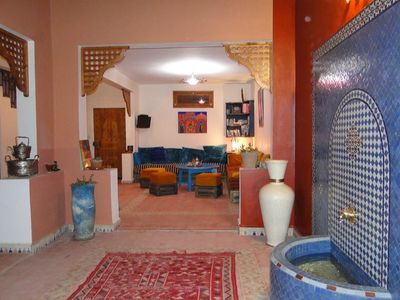 Photo for SUPERB AND SPACIOUS TRADITIONAL RIAD - 4 BEDROOMS - LARGE TERRACE - AURIRE
