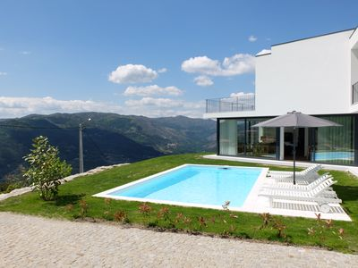 Photo for Modern house with fantastic views over the River and the Serra do Gerês