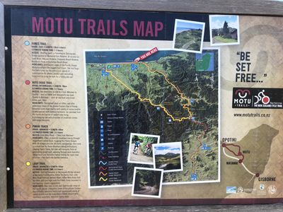 Motu Trails Map - Extended Trail