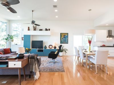 Photo for Hillside Modern - 4br/3ba with a POOL! Walk to Barton Springs!!