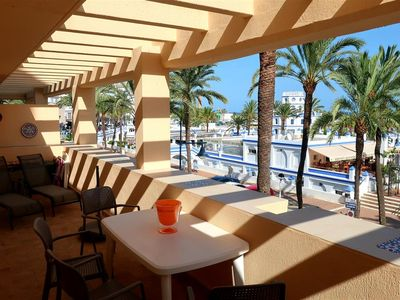 Photo for Amazing sea views, two swimming pools and WIFI, Front line Estepona marina close to shops and bars