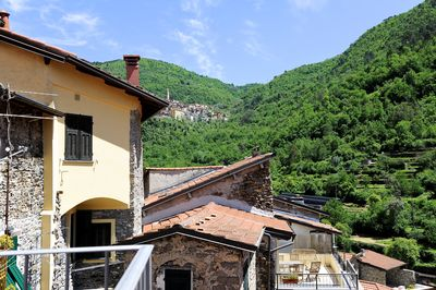 From the balcony you can see the village of Castelvittorio, 3 kilometers away.