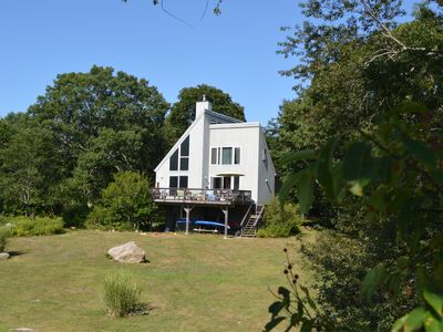 Photo for Sunny Scandinavian House on Wamphassuc Pt. Harbor view. Short walk to the beach