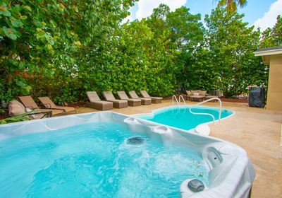 Private pool beach rental
