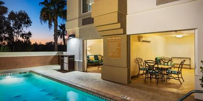 Photo for WALK TO DISNEYLAND! LOVELY QUEEN STUDIO, POOL, BBQ, CLOSE TO ATTRACTIONS