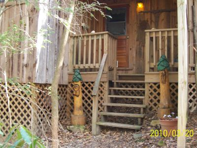 Photo for Creekside Cottage Sits over Lg. Mt. Creek in Woods, Looking into Park!  Pets OK!