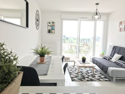 Photo for SUPERB! APARTMENT T2 - TERRACE, PARKING, SWIMMING POOL & TRAM