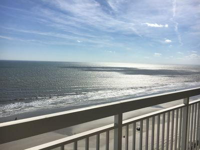 Photo for 4 Bedroom direct oceanfront condo, WIFI, outdoor pool, lazy river, hot tub