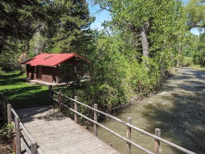 Photo for T-Lazy-B Ranch - a Rustic Montana Cabin Experience on the banks of Jack Creek