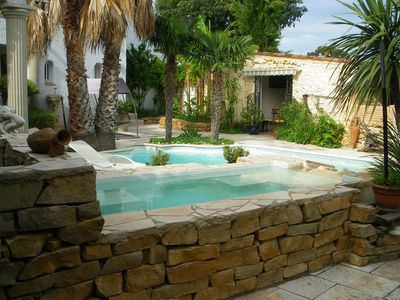 Photo for Villa with terrific mediterranean garden located next to beaches and mountains