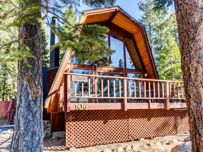 Photo for Wonderful A-frame cabin with lake views, shared pool, & tennis courts!