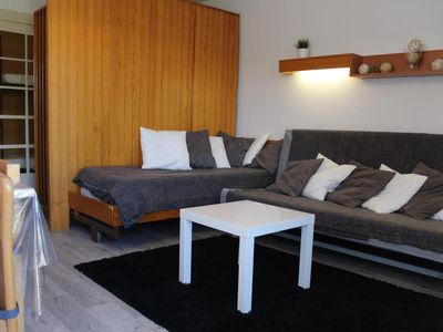 Photo for Surface area : about 28 m². Orientation : North. View valley. Living room with bed-settee