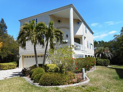 Photo for Private and GORGEOUS gated Longboat Key Home ~ short walk to beach! Large Dock!
