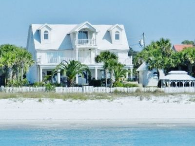 Photo for Luxury Beachfront 5BR, 5,000 Sqft Home with Private Heated Pool, Hot Tub, Wi-Fi