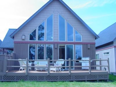 Photo for CHARMING CHALET WITH GOLF COURSE VIEW...RELAX ON DECK OR ENJOY THE HOT TUB.