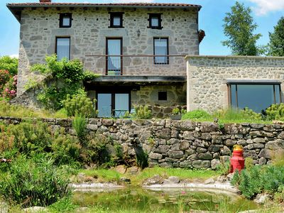 Photo for House with jacuzzi, sauna, swimming pool, beautiful view on the valley of Cantal