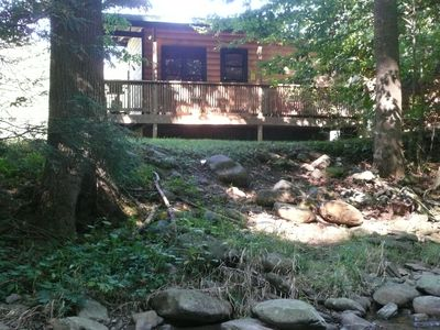 Photo for Small, quiet, romantic, reasonably priced cabin, next to a great trout stream