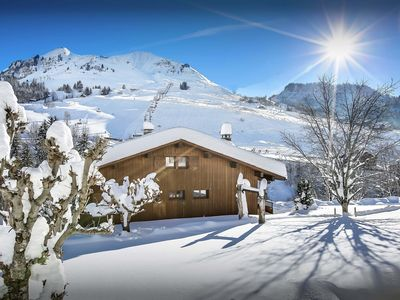 Photo for Enjoy a sauna and watch a film at 4* chalet with piste views - OVO Network