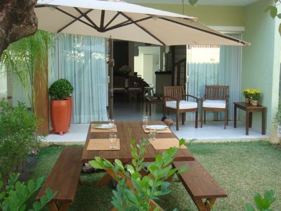 Photo for Vilage, 3 suites, furnished, swimming pool, barbecue with complete safety and comfort