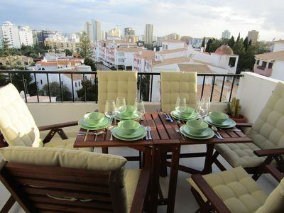 Photo for 3 bedroom apartment overlooking the city of portimão