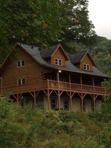 Photo for Misty View Cabin offers spectacular views, central heat & AC, fire pit, great location.