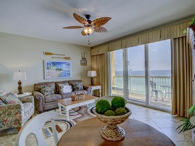 Photo for Waterfront getaway w/ two shared pools, a Tiki bar, gym, & beach access