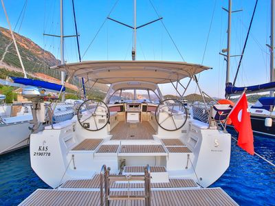 Photo for Sailing holiday in a Beneteau Oceanis 48 along the Mediterranean Sea in Kas,