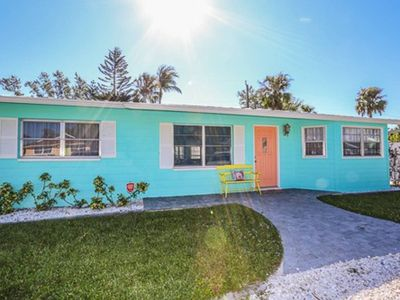 Photo for Welcome to 140 Jefferson on beautiful Fort Myers Beach.  This cheerful, remodeled, three bedroom, two full bath, pet friendly, ranch style home is located in a quiet residential neighborhood just a one minute walk to the beach.