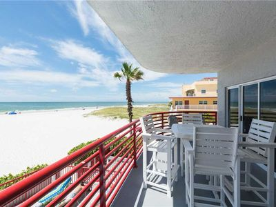 Photo for Direct Beach Corner 1400 sq ft - Renovated & Luxurious - Pool & Hot Tub - Sleeps 6 - Free Wifi