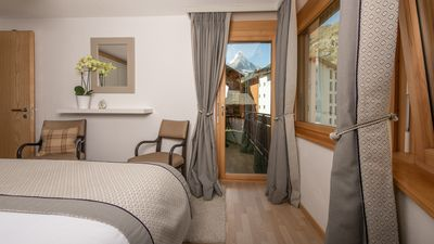 The Matterhorn will be waiting for as you pull back the curtains in the morning!