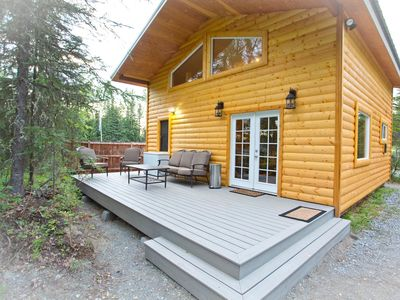 Photo for Kenai River Cute little Cabin-Private River Front Cabin On Kenai River