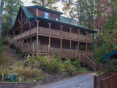 Photo for Angels Rest  | Serene Wooded Views | WiFi | Hot Tub | Pool Table | Air Hockey | Gatlinburg