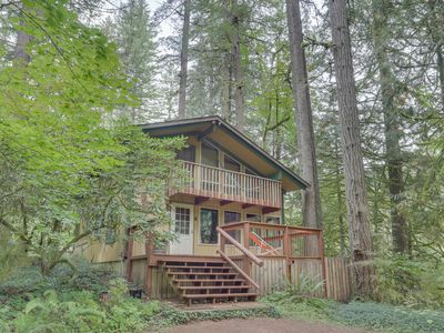 Photo for NEW LISTING! Riverfront cabin on 1-acre lot w/trees & private river access