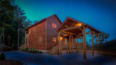 Photo for Mountainside Retreat- Paved Access | Spectacular Mountain Views | Screened In Porch