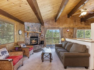 Photo for Starlight Chalet: Mountain Views! Wood Burning Fireplace! Forest Views! BBQ!