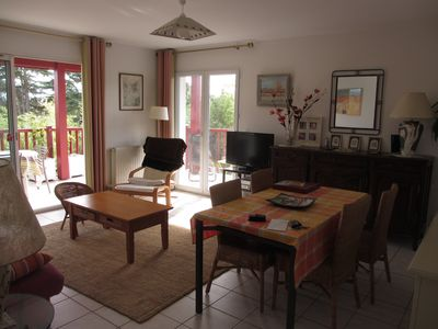 Photo for Anglet near beaches, Apt. T3 sleeps 6, large balcony, quiet, view