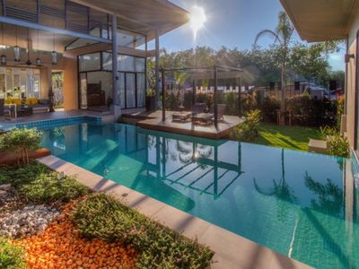 Photo for Ibiscus - 2 bedroom design villa private pool - relaxing and close to the sea