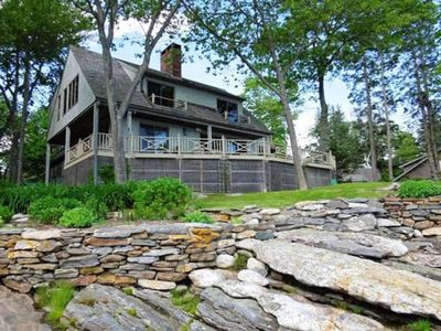 Photo for Five Bedroom, Four Bathroom Oceanfront Cottage Boothbay Harbor Maine