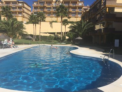 Photo for 2 Bed apartment, with sea views overlooking pool
