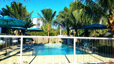 Photo for 15%OFF ESTERO#1, MODERN 2BED ,PRIVATE PATIO,STEPS TO BEACH! WITH POOL!