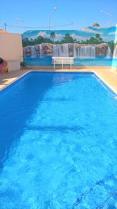 Photo for LUXURY VILLA SOUTH FACING-PRIVATE & HEATED POOL-BEACH 500M-ENGLISH TV-WIFI-BBQ
