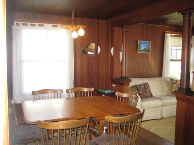 Dining room with view to living room