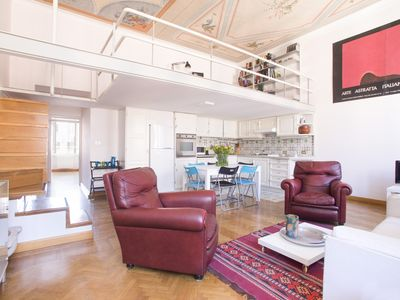 Photo for Beautiful apartment, walking distance from Colosseum, renewed, lofts, AC, WIFI