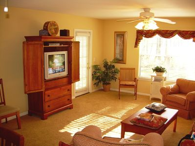 Livingroom with TV  entertaining area