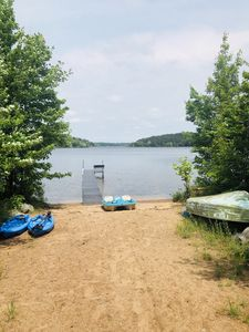Lake with Great Dock and Beach  for Swimming, Fishing, Paddle Boat, Kayaks.